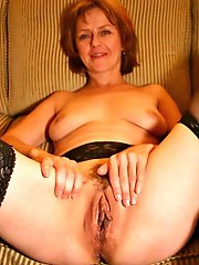 Remarkable mature moms getting pleasured on camera
