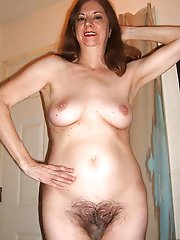 Mature mom with shaved pussy